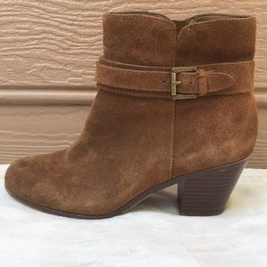Sam Edelman Lynne Brown Suede Ankle Boots Size 8